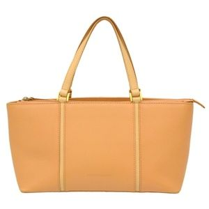 Auth Burberry Leather Tote Satchel Hand #2339B11